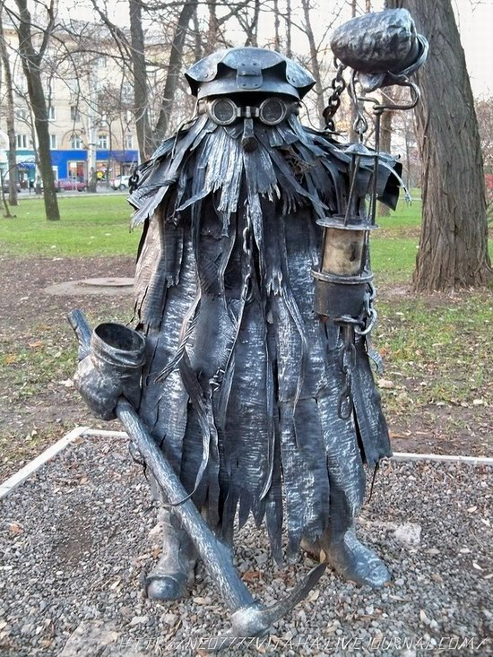 Forged Figures Park in Donetsk, Ukraine, photo 12