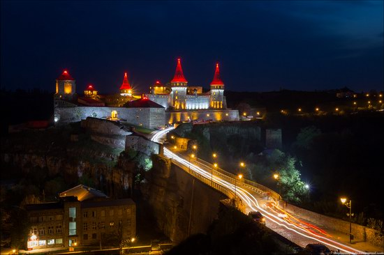 Kamenets Podolskiy Ukraine fortress at night