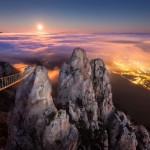 Moonrise over Yalta – Ai-Petri Peak in Crimea