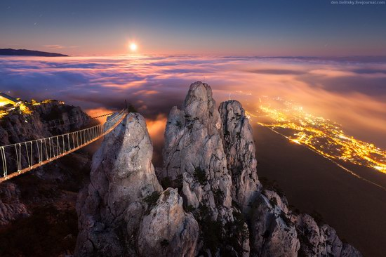 Moonrise over Yalta, Crimea