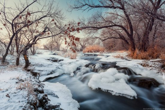 Beautiful winter landscapes - the Krynka River, Ukraine, photo 1