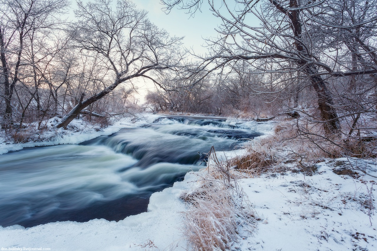 Beautiful winter landscapes – the Krynka River · Ukraine travel blog