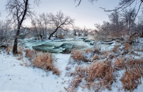 Beautiful winter landscapes - the Krynka River, Ukraine, photo 4