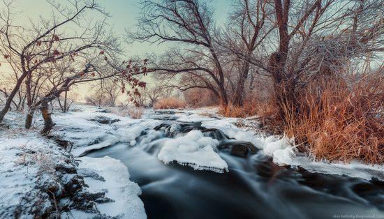 Beautiful winter landscapes - the Krynka River, Ukraine, photo 5