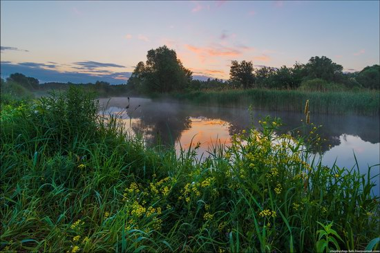 Cool morning, the Oskol River, Ukraine, photo 2
