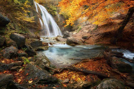 Djur-Djur waterfall in the Crimea