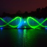 Unique light and music fountain in Vinnitsa