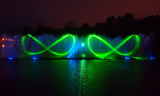 Unique light and music fountain in Vinnitsa, Ukraine, photo 1