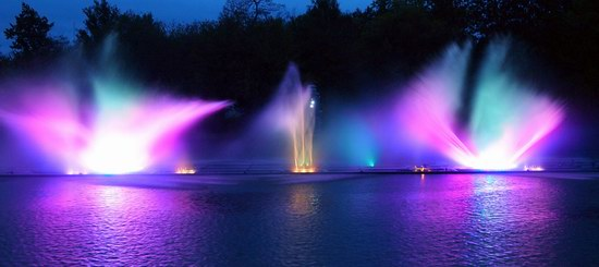Unique light and music fountain in Vinnitsa, Ukraine, photo 5