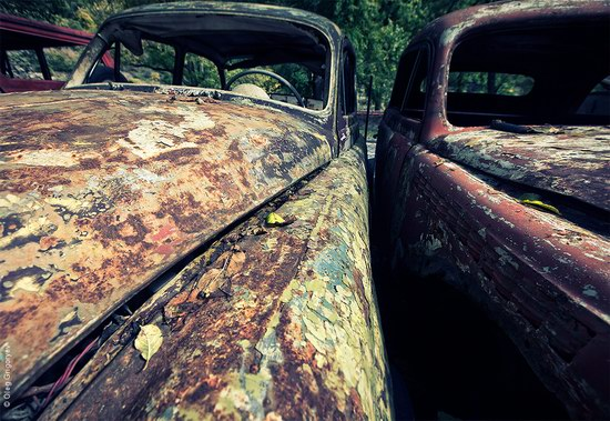 Abandoned vintage cars, Ukraine, photo 6