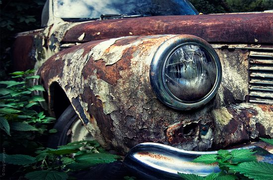 Abandoned vintage cars, Ukraine, photo 8