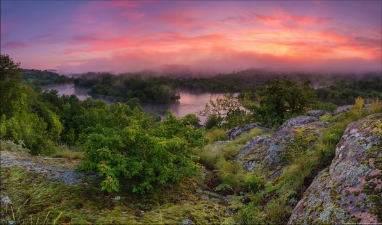 Fairytale morning on the Southern Bug River, Ukraine
