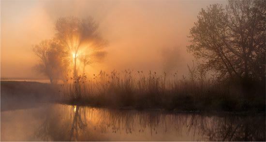 Early in the morning in Kharkiv region, Ukraine
