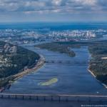 The capital city of Ukraine – bird's eye view