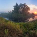 Early morning on the Vorskla River