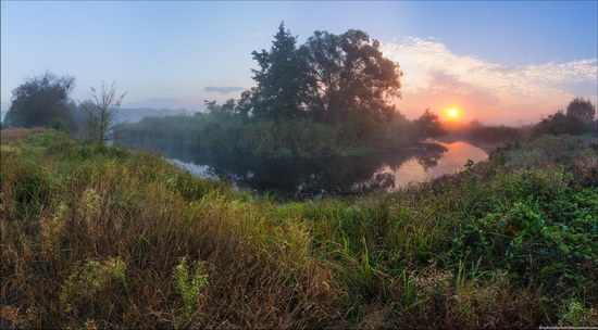 Early morning on the Vorskla River, Sumy region, Ukraine