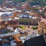 The views of Lviv from the City Hall