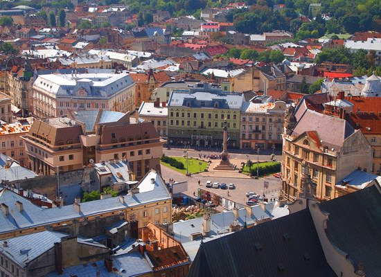 The views of Lviv from the City Hall, Ukraine, photo 1
