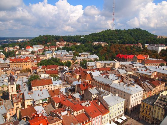 The views of Lviv from the City Hall, Ukraine, photo 12
