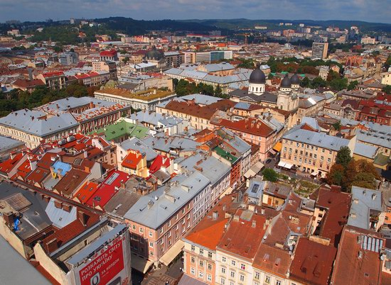 The views of Lviv from the City Hall, Ukraine, photo 15