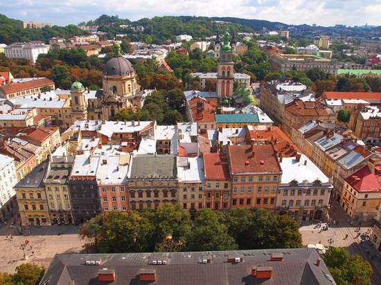 The views of Lviv from the City Hall, Ukraine, photo 18