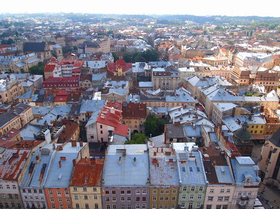 The views of Lviv from the City Hall, Ukraine, photo 2