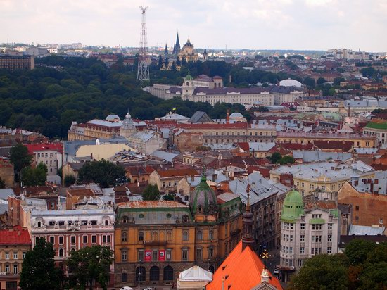 The views of Lviv from the City Hall, Ukraine, photo 21