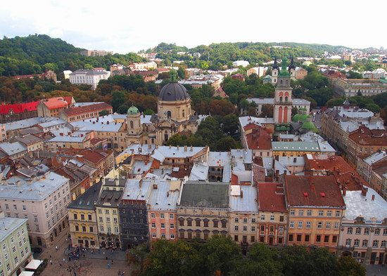 The views of Lviv from the City Hall, Ukraine, photo 22