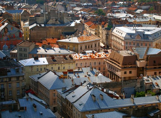 The views of Lviv from the City Hall, Ukraine, photo 4