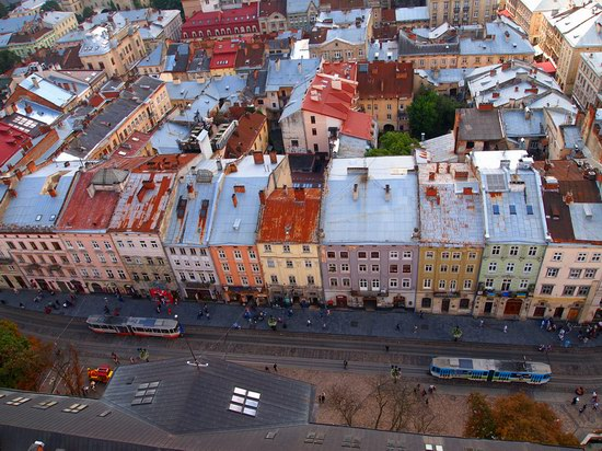 The views of Lviv from the City Hall, Ukraine, photo 5