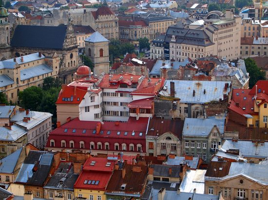 The views of Lviv from the City Hall, Ukraine, photo 7