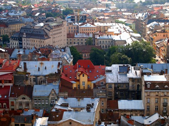 The views of Lviv from the City Hall, Ukraine, photo 8