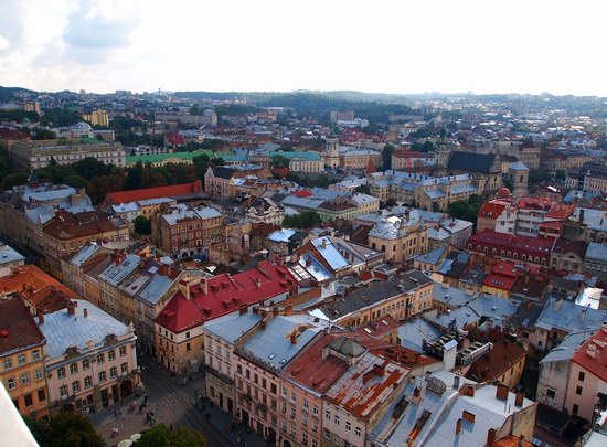 The views of Lviv from the City Hall, Ukraine, photo 9