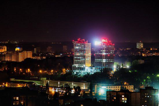 Kyiv city at night time, Ukraine, photo 1