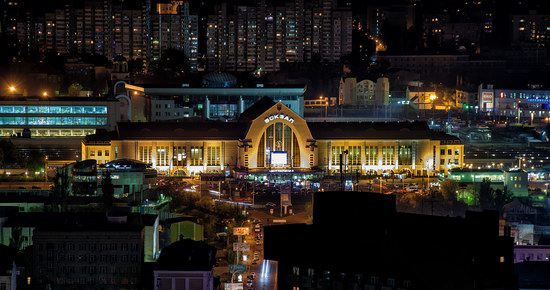 Kyiv city at night time, Ukraine, photo 10