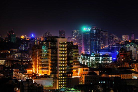 Kyiv city at night time, Ukraine, photo 11