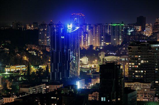 Kyiv city at night time, Ukraine, photo 12