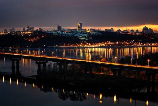 Kyiv city at night time, Ukraine, photo 15