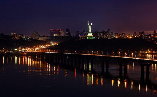 Kyiv city at night time, Ukraine, photo 16