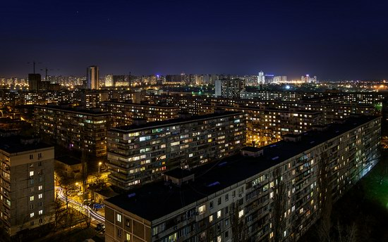 Kyiv city at night time, Ukraine, photo 17