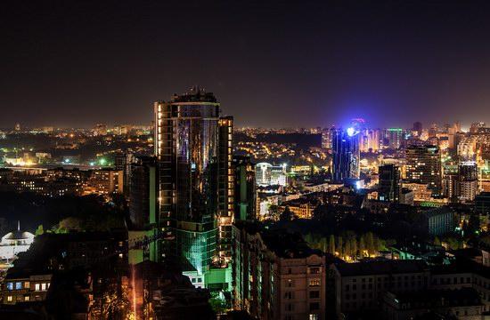 Kyiv city at night time, Ukraine, photo 18