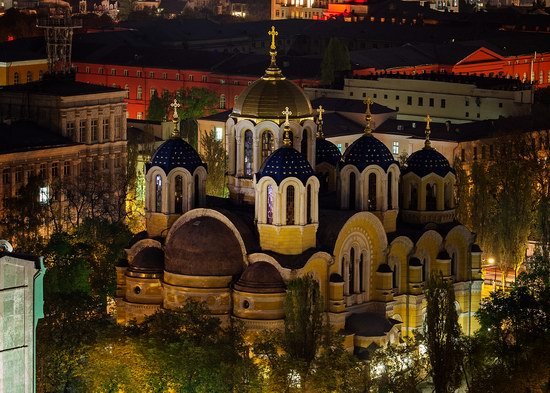 Kyiv city at night time, Ukraine, photo 19