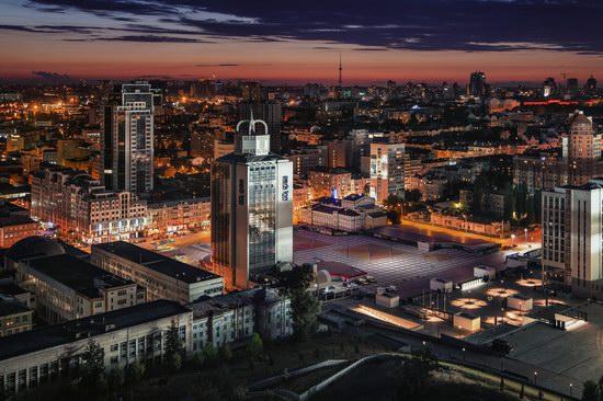 Kyiv city at night time, Ukraine, photo 2