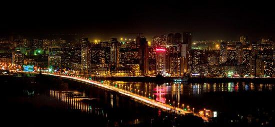 Kyiv city at night time, Ukraine, photo 4