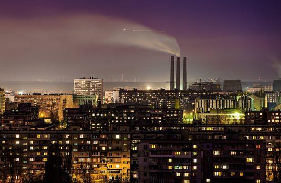 Kyiv city at night time, Ukraine, photo 7