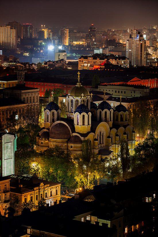 Kyiv city at night time, Ukraine, photo 8