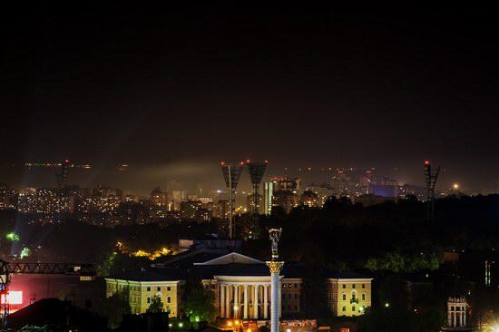 Kyiv city at night time, Ukraine, photo 9