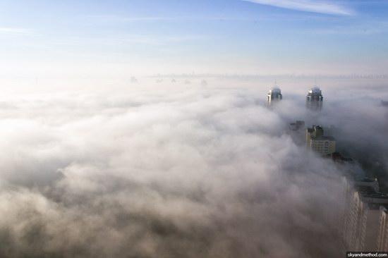Kyiv, Ukraine capital, fog, photo 6