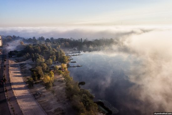 Kyiv, Ukraine capital, fog, photo 7