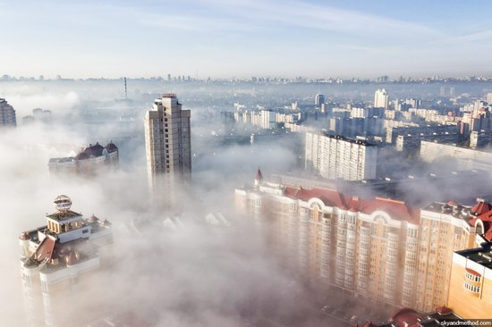 Kyiv, Ukraine capital, fog, photo 9